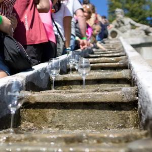 Historická tradice - pouštění vína po schodišti až v roce 2021